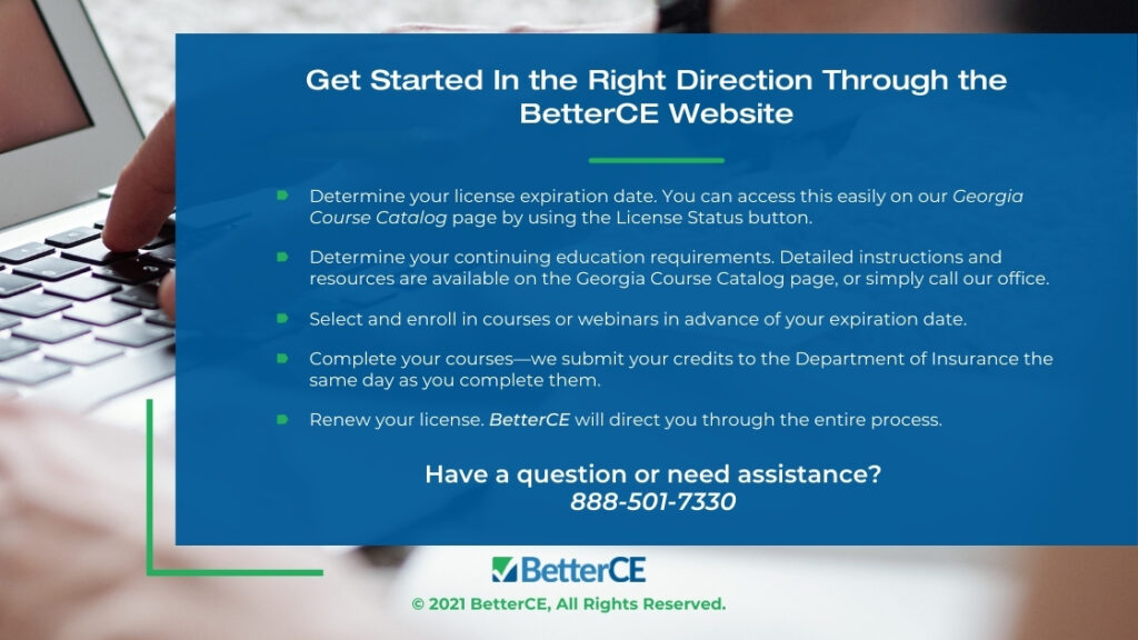 Callout 4- Get Started in the Right Direction Through the Better CE Website - 5 bullet points