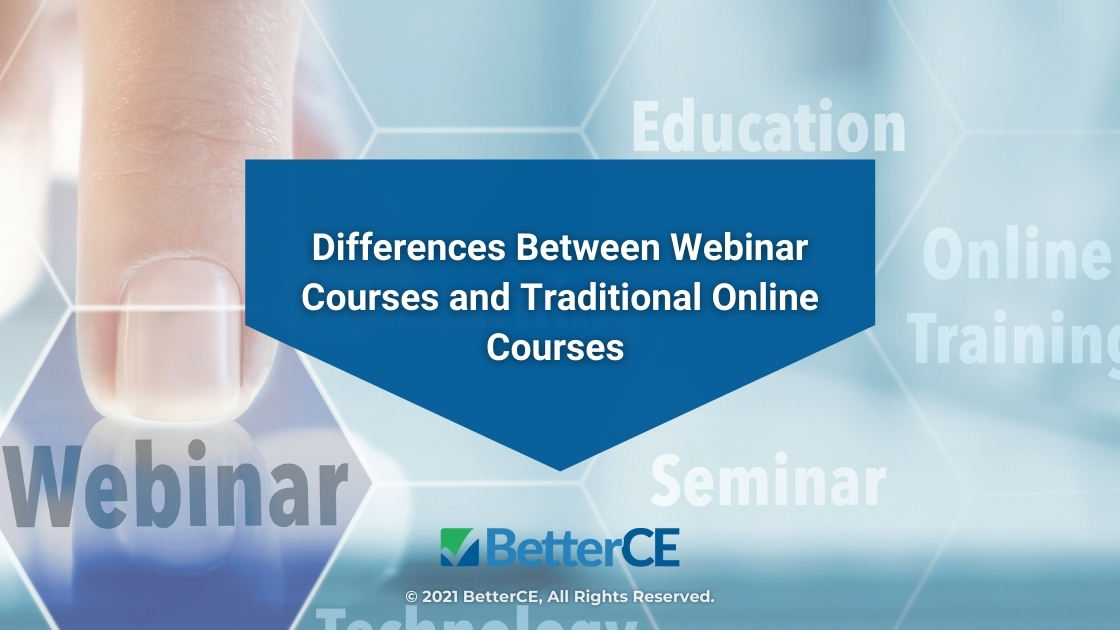 Featured-webinar-online education concept on digital interface- Differences Between Webinar Courses and Traditional Online Courses